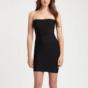BCBGMaxAzaria Alyon Black Bandage Dress